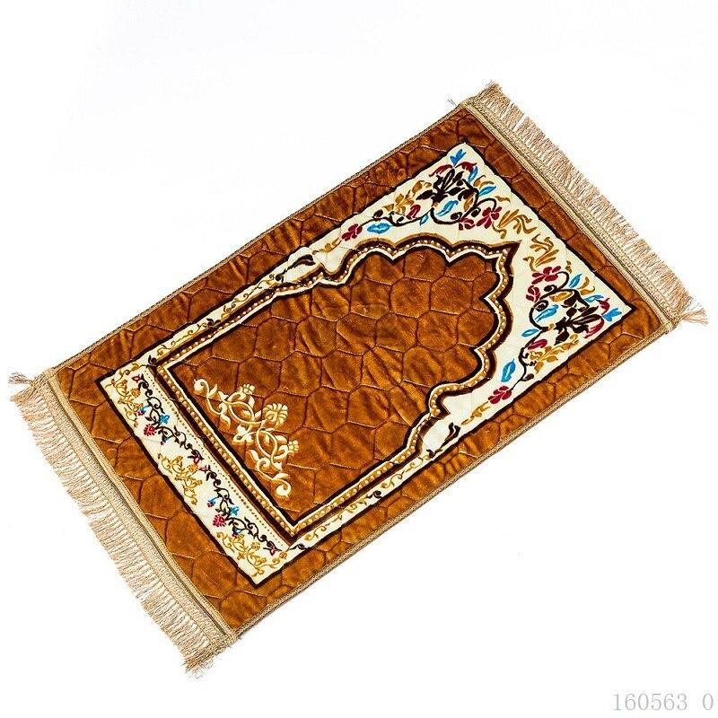 Image 4 - Wholesale 75*120cm Thick Islamic Muslim Prayer Mat Salat Musallah  Prayer Rug Tapis Carpet Tapete Banheiro Islamic Praying MatMat   -