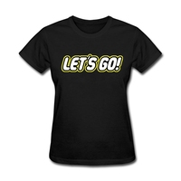 Womens Christian Let?s go t shirt Online Shopping Ladies Purple T Shirts O Neck Tee Wholesale