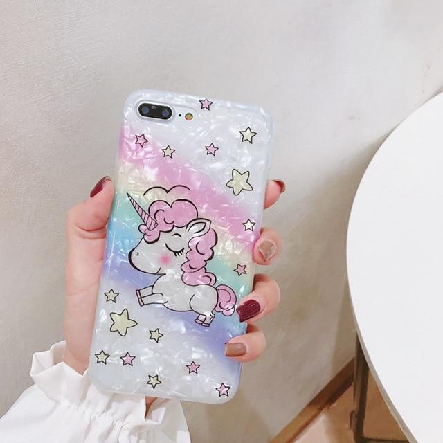 Cute Unicorn Phone Case For iPhone