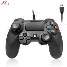 For Sony PS4 Controller Usb Wired Vibration Gamepad For Playstation 4 PC Detroit Wired Joystick Double Vibration and shock цена и фото