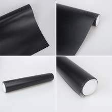 30*152cm fabric for Car Interior Sticker Body car interior adhesive Films leather grain black film Car Stickers With Glue(China)