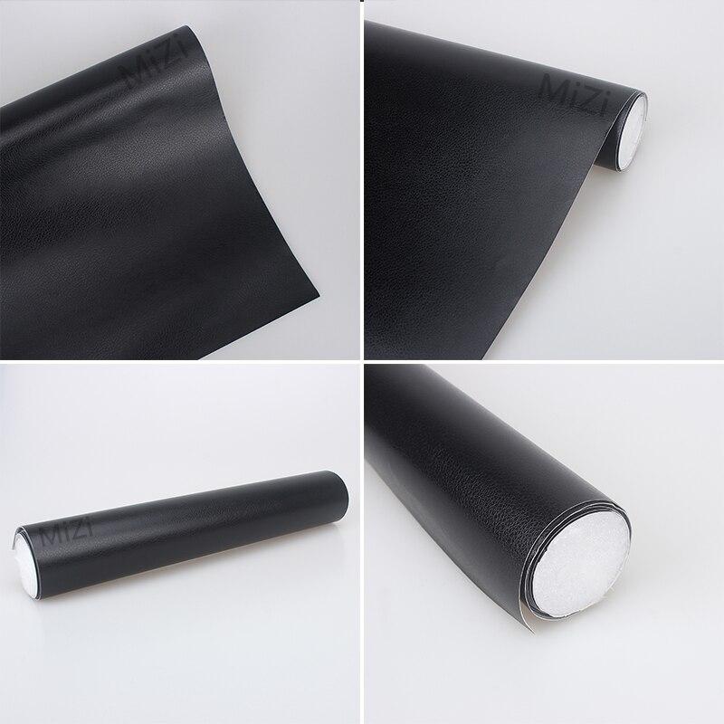 30*152 centímetros de tecido para o Interior Do Carro Corpo Adesivo interior do carro adesivo filme Filmes grão couro preto Adesivos de Carro com Cola