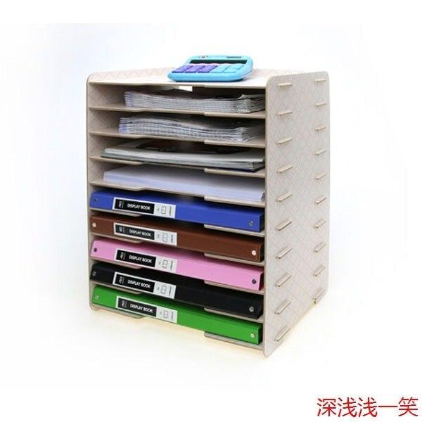 089 fournitures de bureau multicouche 4 plateau de rangement en bois classeur bureau document - Rangement documents bureau ...