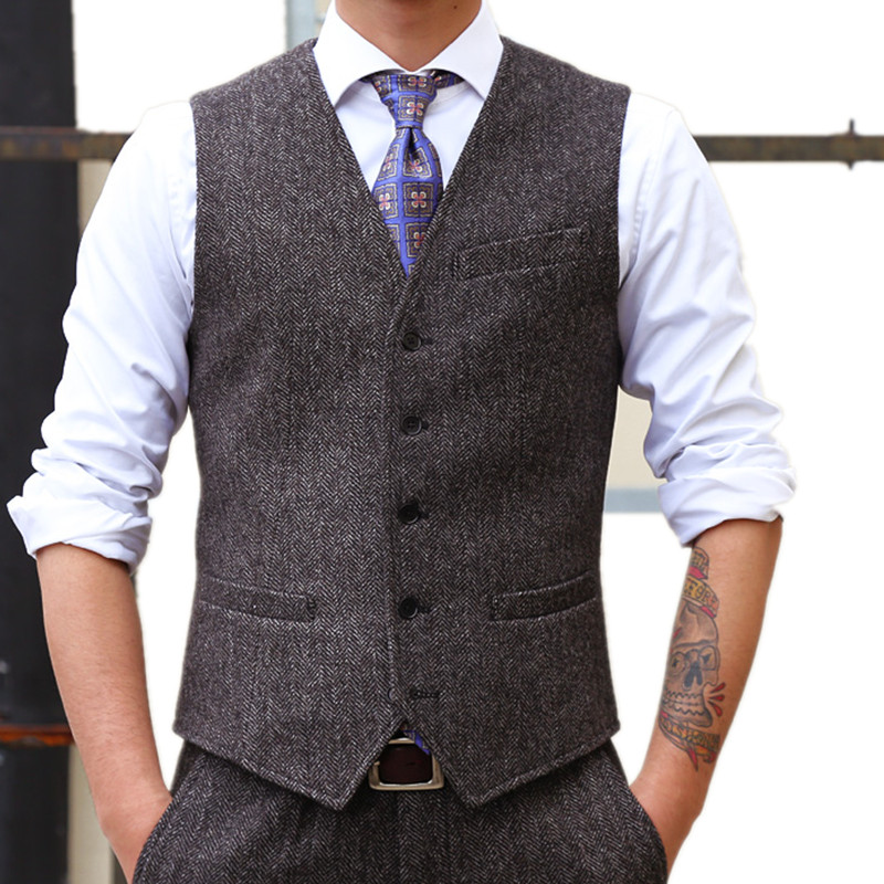 New Men's Suit Vest And Pants Fashion Business Casual Mens Waistcoat  Slim Comfortable Vests Men Large 6XL