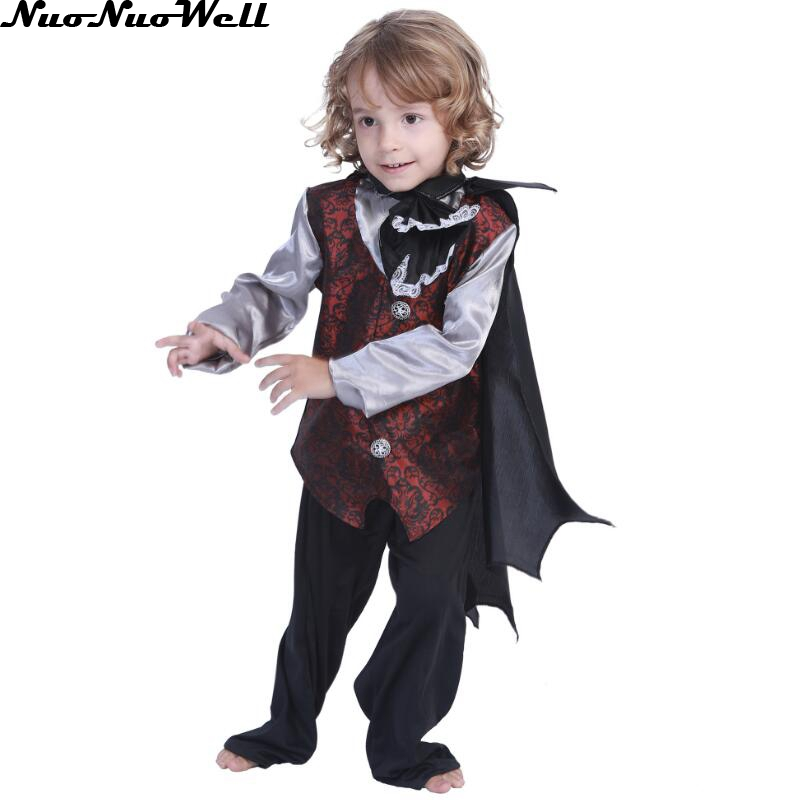Brilliant Carnival Party Halloween Kids Boy Children Count Gothic Vampire Costume Fantasia Prince Vampire Cosplay Costume With The Most Up-To-Date Equipment And Techniques