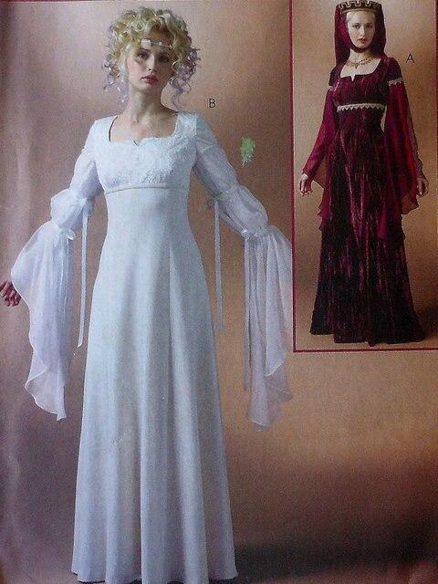 Renaissance Kleid Schnittmuster UNCUT McCalls MP362 Größen 6 12 ...