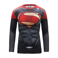 Male Shirt Compression Gym T-shirt Superman Tights Tshirt Jersey Fitness Top 3D Printed Men Clothes Training Workout Clothing