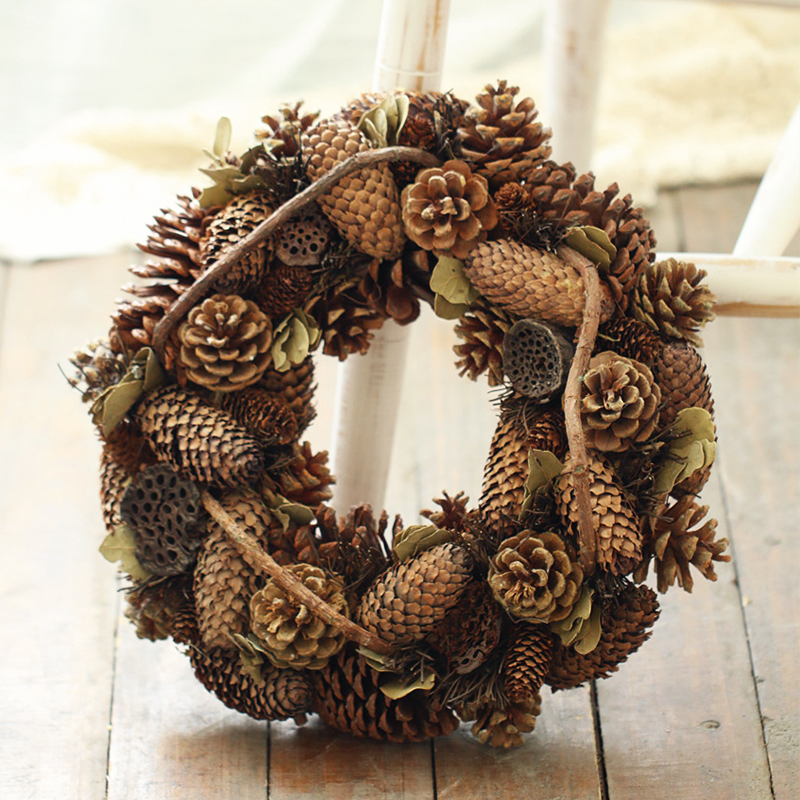 Pine Cones Flowers Wreath Home Decoration Craft Flowers