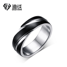 New Style Fashion 316L Stainless Steel Twill Black Ring For Man Black Twill Ring jewelry Wholesale