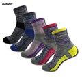 BXMAN (5 Пар/лот) Новые Зимние мужские Хлопчатобумажные Носки Мода Толще Дыхательные Носки