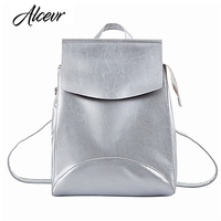 ALCEVR New Arrival Women Backpack Youth Fashion Pu Leather Backpack For Teenage Girls Brand Feminine School