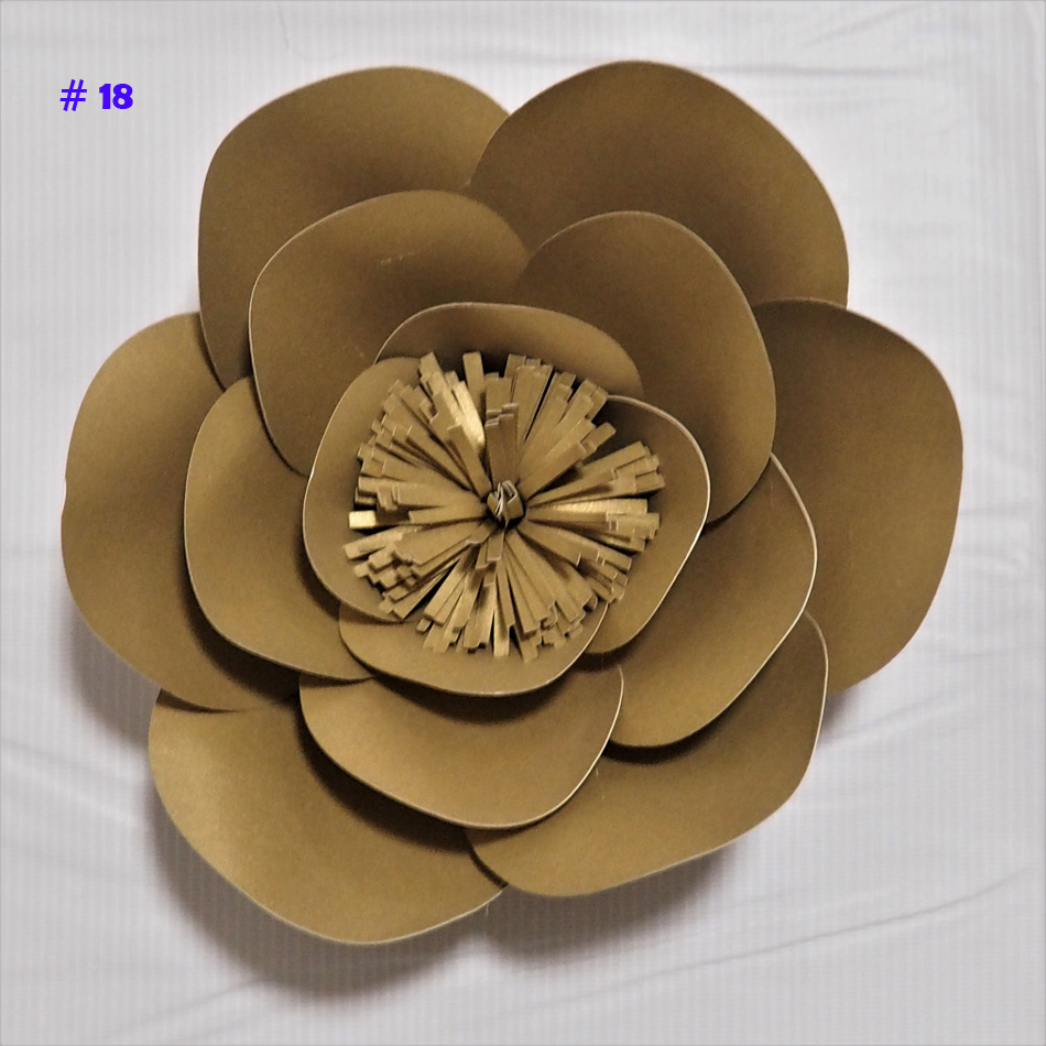 Us 3 56 49 Off Giant Paper Flowers Artificial Rose Diy Large Paper Rose Wedding Event Backdrop Baby Nursery With Video Tutorials 1 Piece In