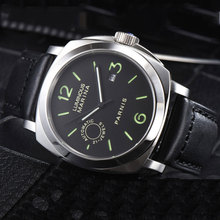 Luxury PARNIS Commander Seriers Luminous Mens Leather Watchband 21 Jewels Miyota Automatic Self-Wind Mechanical Watch Wristwatch цена и фото