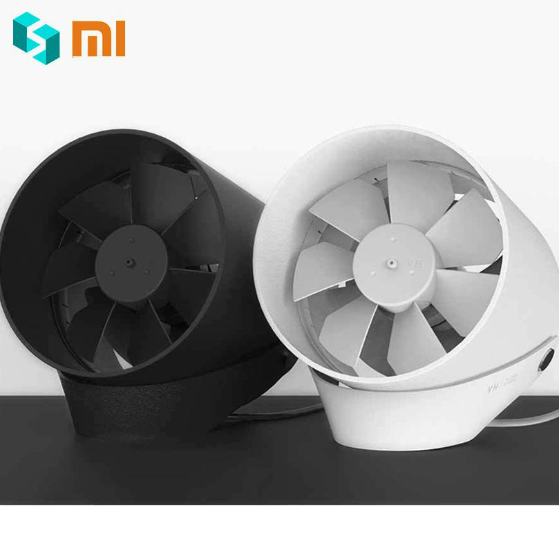Color : Black MUTANG Small Personal USB Fan Office Portable Mini Table Desk Fan with Double-Blades Touch Control Adjustable Whisper Cooling Fan Desktop Personal Fan Two Speed for Home