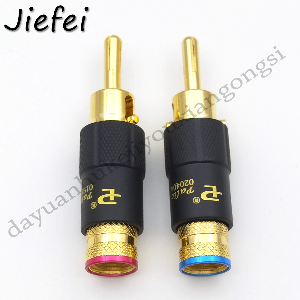 NEW Pailiccs 24K Gold Plated RCA Plug Connector ~ set of 4