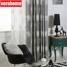 Modern floral embroidered curtains for Living Room Bedroom for Window treatment Tulle Curtains Drapes home decor beige polyester flannel europe embroidered blackout curtains for living room bedroom window tulle curtains home hotel villa