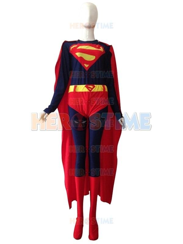 (SUP114) nouveau Costume de super-héros Superman robe Cosplay Zentai Costume de fête d'halloween avec Cape