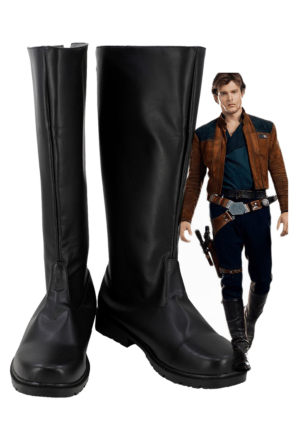 Solo: une histoire de Star Wars Cosplay chaussures Han Solo bottes en cuir PU chaussures Halloween taille européenne