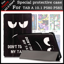 Ultra thin Smart Cover case For Samsung Galaxy Tab A 10.1 2016 P580 P585,Printed Folio stand PU leather Case for p580/p585