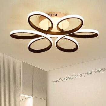Lámparas de techo de sala de estar modernas luminarias LED iluminación de techo de dormitorio iluminación nórdica luces de techo Decó para el hogar
