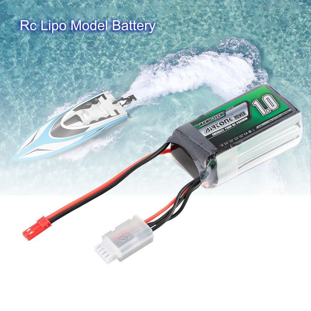 Airtonk Power 11.1V 1000mAh 30C 3s 1P Lipo Battery JST Plug Rechargeable For RC Racing Drone Quadcopter Helicopter Car Boat