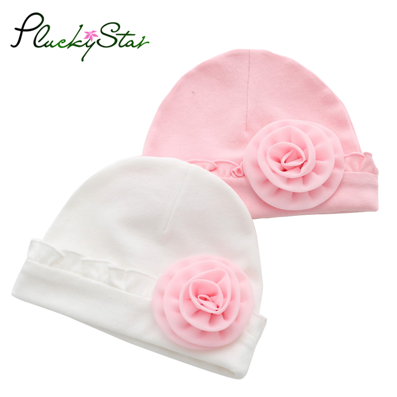 PluckyStar Royal Style Baby Caps Newborn Photography Props Princess Baby Hats For Girls Lace Floral Bebes Bonnet enfant Hat C26 ...