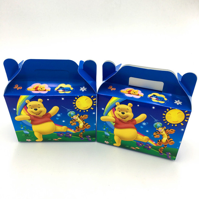 6pcslot Wholesale Winnie Pooh Candy Boxes Birthday Party Favors