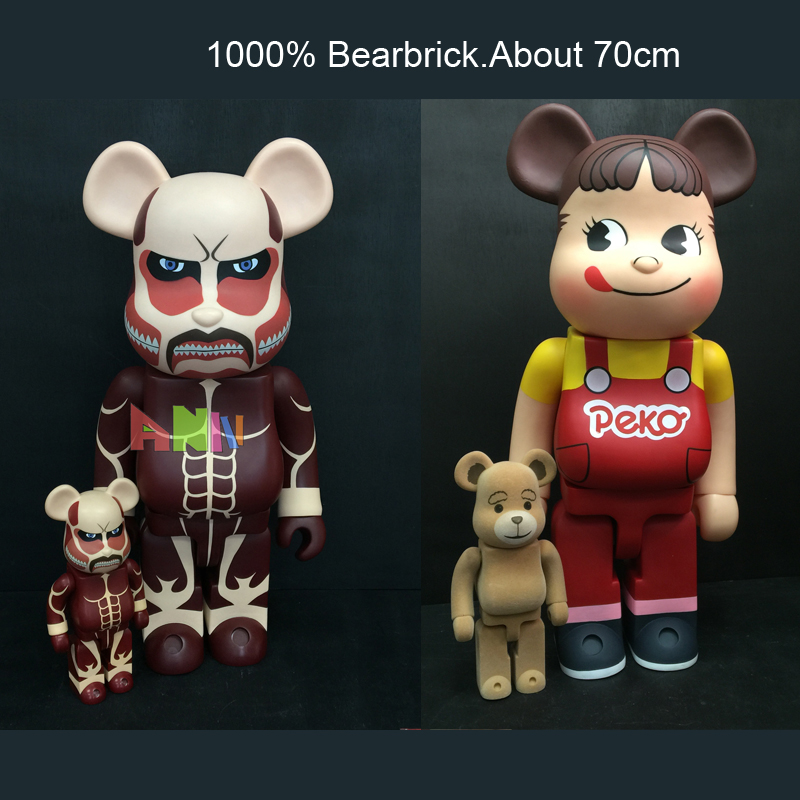 28 70CM 1000% Bearbrick Be@rbrick Attack on Titans Action Toy Figure Medicom Toy Art Work Great Gift for Friends hot selling oversize 1000% bearbrick luxury lady ch be rbrick medicom toy 52cm zy503