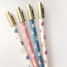 L51 4x Simple Élégant Floral Cher Belle Gel Stylo Stylos École Stationery Office Supply Cadeau Étudiant Enfants Enrichissante(China (Mainland))