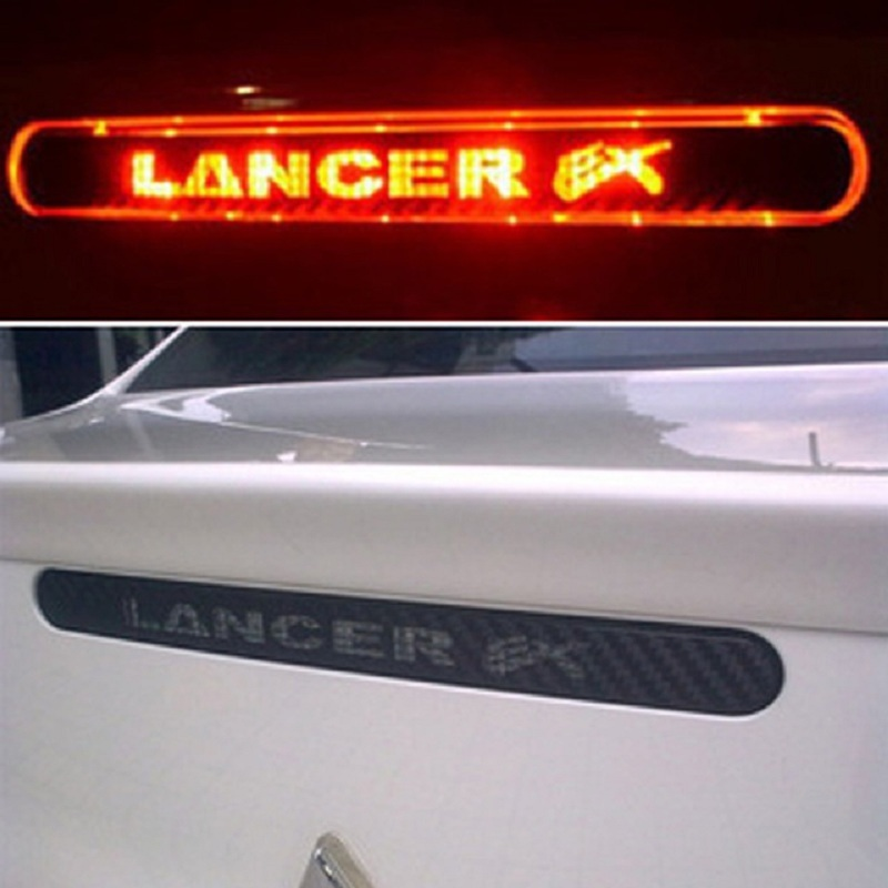 Carbon Fiber Brake <font><b>Sticker</b></font> For <font><b>Lancer</b></font> Ex 9 <font><b>10</b></font> High Positioned Rear Brake Lights <font><b>stickers</b></font> For Mitsubishi <font><b>lancer</b></font> Car Accessories image