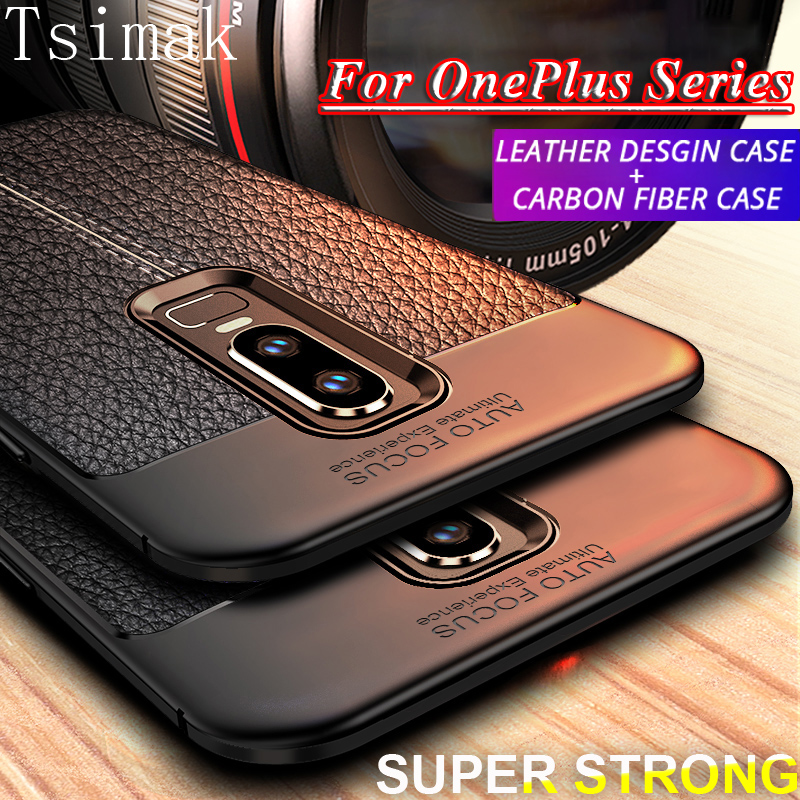 Tsimak <font><b>Case</b></font> For <font><b>Oneplus</b></font> 3 3T 5 5T 6 <font><b>6T</b></font> 7 7T Pro one plus 6 T 7 <font><b>Case</b></font> Cover Soft Silicone <font><b>Bumper</b></font> Shockproof Armor Back Phone Coque image
