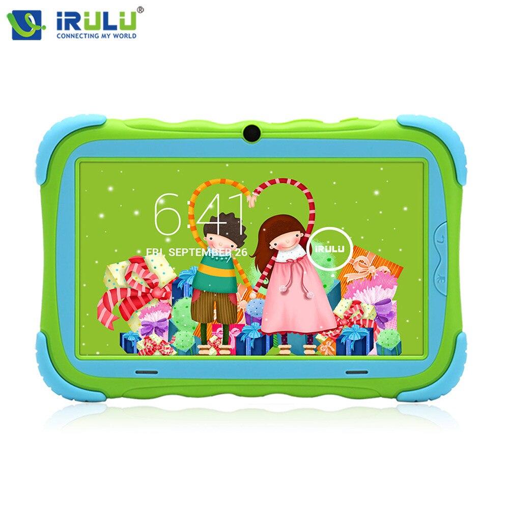 D'origine iRULU Y5 7 Babypad 1024*600 IPS Quad Core Android 7.1 Comprimés 1g/16g GMS Silicone Cas Cadeau Pour Enfants 2800 mah LCD