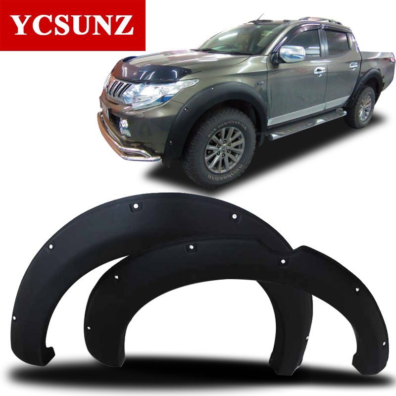 2015-2019 Fender բռնկում Mitsubishi Triton պարագաների համար Black Mudguard For Mitsubishi L200 Car Styling Fender Flare Ycsunz