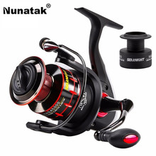 Nunatak NAGA 5.2:1/4.7:1 11BB 7.5KG Spinning Fishing Reel 2000/3000/4000/5000 Spinning Wheel Fishing Tackle with Spare Spool