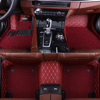 SUNNY FOX Car floor mats for Skoda Octavia Yeti Fabia Rapid spaceback 5D heavy duty car styling carpet floor liner