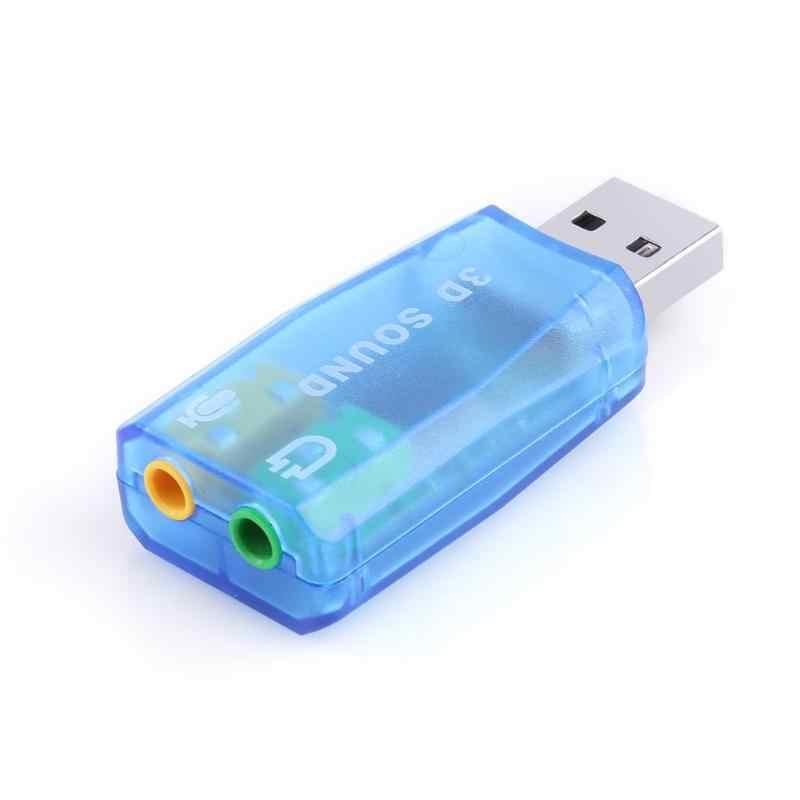 外部 Usb サウンドカード 3D オーディオヘッドセットイヤホンマイクラップトップノートブック用アダプター PC デスクトップコンピュータ