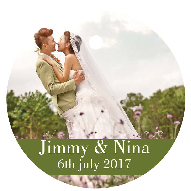 Round Wedding Invitation Label 1: 100PCS Personalized People Printing Logo Paper Labels