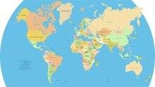 Пользовательские Мира Настенная Карта 2012 Плакат Спальня Декор Мода Стикер Стены Карта Мира Вектор Обои #0495