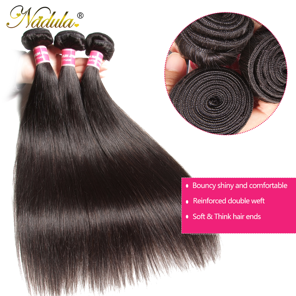 Nadula Hair 13x6 Lace Frontal Closure with Bundles Straight Hair Bundles With Frontal   Hair Bundles with Frontal 3
