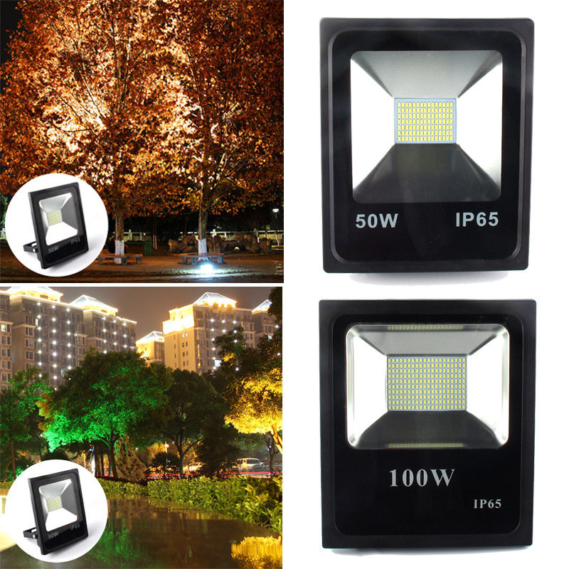 50W 100W Led Flood Light Outdoor Spotlight Floodlight Wall Washer Lamp Reflector IP65 Waterproof Garden Landscape Lighting led flood light waterproof ip65 200w 90 240v led floodlight spotlight fit for outdoor wall lamp garden projectors
