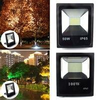 50W 100W Led Flood Light Outdoor Spotlight Floodlight Wall Washer Lamp Reflector IP65 Waterproof Garden Landscape Lighting