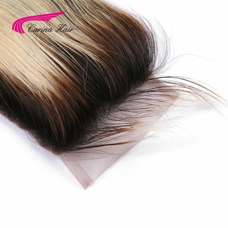 Carina Ombre flokë të drejtë flokëverdhë Dantella Zvicerane 4 * - Flokët e njeriut (të zeza) - Foto 4