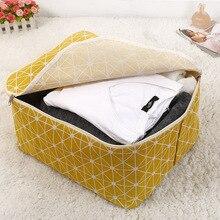 새 주최자 방수 휴대용 의류 격자 스토리지 가방 접는 옷장 Organizador 베개 퀼트 담요 퀼트 가방