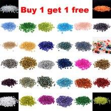 Купить 1 получить 1 бесплатно#5301 3 мм 100 шт стеклянные кристаллы AB бусины Биконусы граненый свободный разделитель бисер DIY Изготовление ювелирных изделий U выбрать цвет