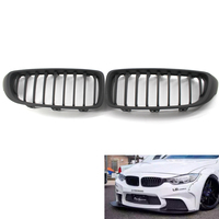 Matte Black Front Kidney Grille Grill M4 Sport for BMW 4 Series F32 F33 F36 F82 430i 428i 435i Coupe 2 Door
