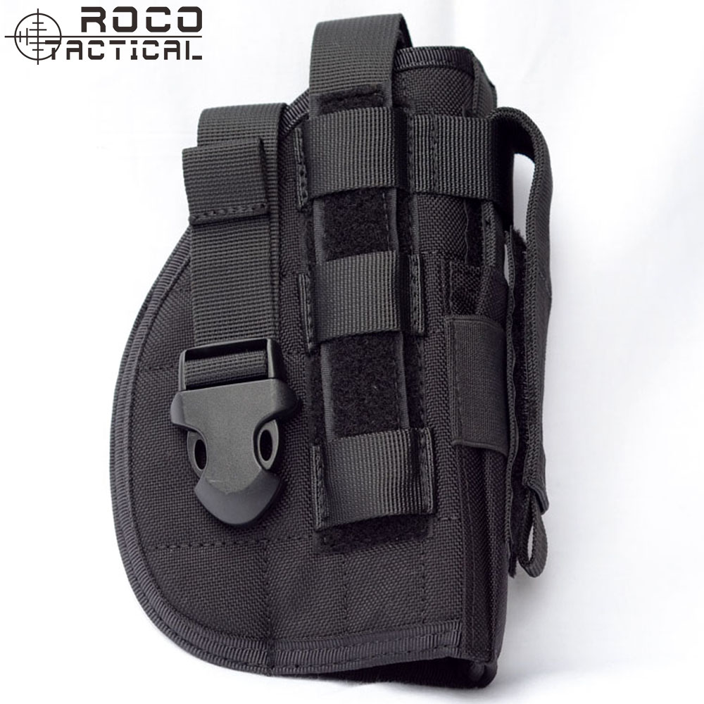 Right Hand Pistol <font><b>Holster</b></font> with Mag Pouch, Tactical <font><b>Molle</b></font> Belt <font><b>Holster</b></font> for Right Handed Shooters Fits Glock <font><b>1911</b></font> 45 92 96 image