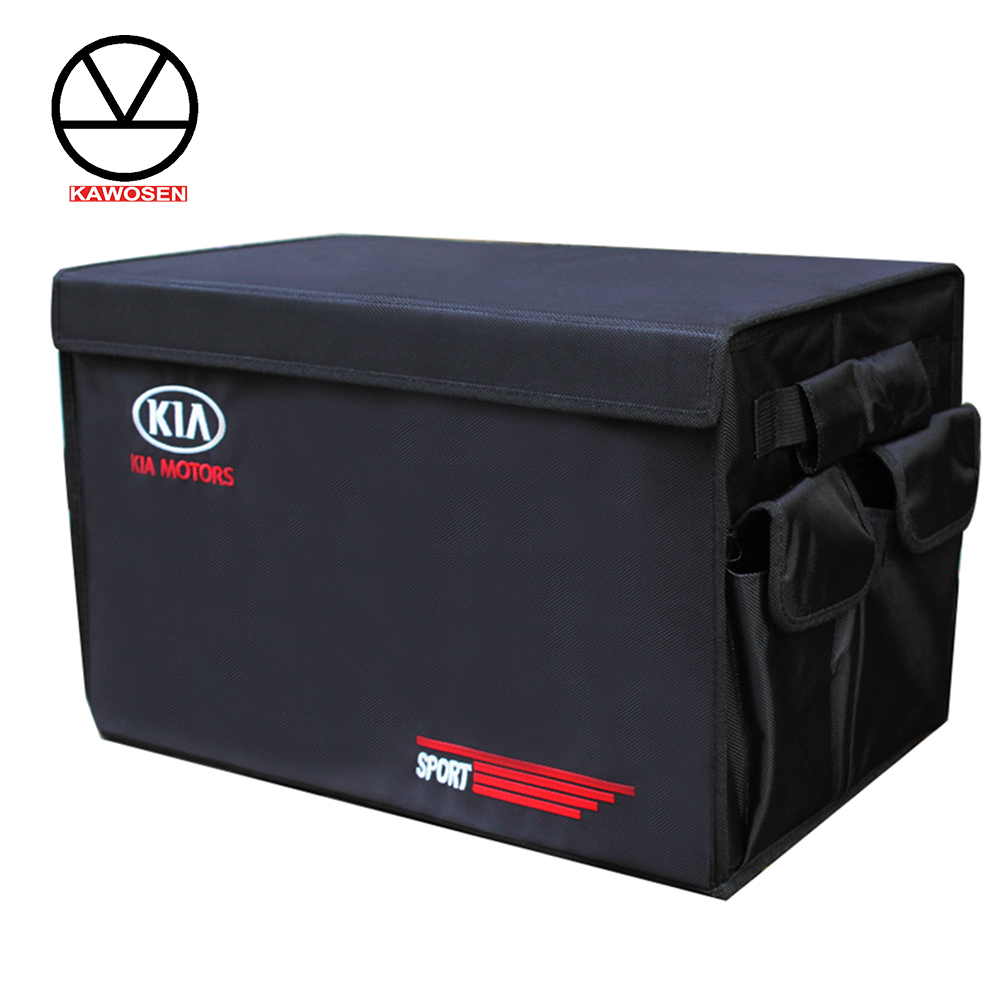 Heavy duty oxford Stowing Tidying Interior Holders Car Foldable Trunk Organizer Storage Bags 50 kg load