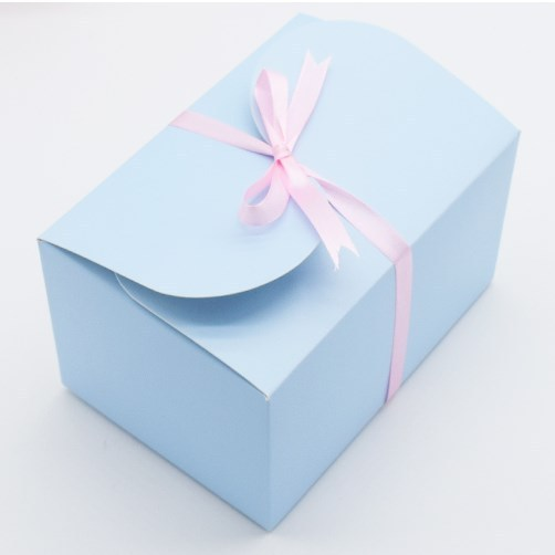 50PCS High Quality Skyblue Paper Cake Box Cupcake Packaging Boxes