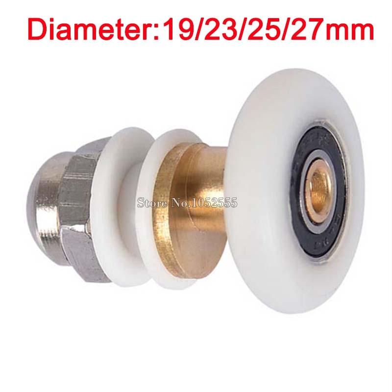 Shower Door Rollers Wheels Runners Diameter 19-27mm for 5mm-7mm Thick Glass
