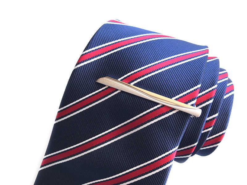 c9ba5b2968d0 ... Long 6 CM 10 model quality retail Silver Men Metal Necktie Tie Bar Mens  Chrome Clamp